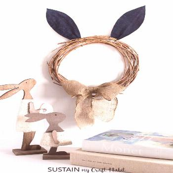 ▷ 1001 + ideas and instructions on how to make Easter bunnies! -  diy wreath in the shape of a ra