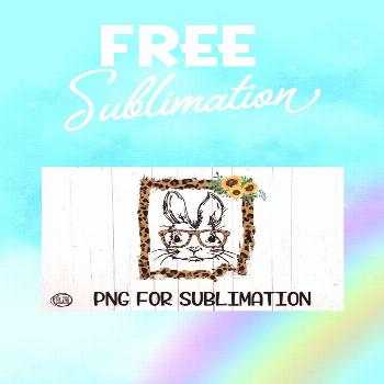 ?  BUNNY - Sunflower - Leopard Torn Frame - PNG for Sub by On The Beach Boutique