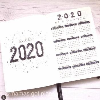 20+ January Bullet Journal Cover Page Ideas - The Smart Wander 20+ January Bullet Journal Cover Pag