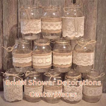 Bridal Shower Decorations Centerpieces Wedding Centerpieces, Bridal Shower Decorations, Burlap Maso
