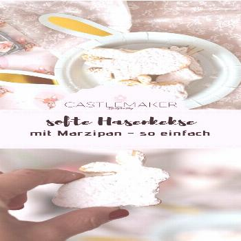 Bunny biscuits with marzipan or marzipan bunnies - it's that easy «CASTLEMAKER Lifestyle Blog -  T