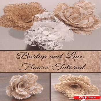 Burlap and Lace Flower Tutorial  2019  This tutorial walks you through creating burlap and lace flo