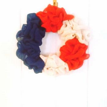 Burlap Wreath, Summer Wreath, Red,White and Blue Wreath Burlap Wreath, Summer Wreath, Red,White and