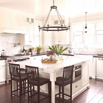 """Cottages & Bungalows Magazine on Instagram: """"Industrial kitchens don't have to be dark and ominou"""