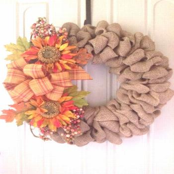 DIY burlap wreath ideas for every vacation and every season - /Familien ...#burlap