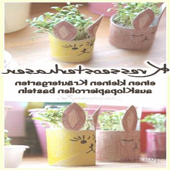 DIY // making cress bunnies out of toilet paper rolls for the Easter decoration - Schwesternliebe &