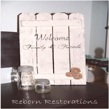 diy rustic picket fence sign  | Picket Fence welcome sign with burlap flowers!#burlap