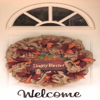 Fall Burlap Wreath / Burlap Wreath / Wreath for Door / Front Door Wreath / Pumpkin Wreath / F... Fa