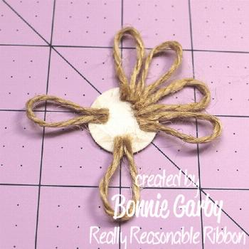 Hi everyone. Bonnie from Really Reasonable Ribbon here today with a tutorial for an easy Jute L