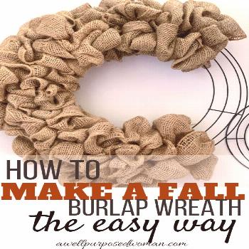 How to Make a Fall Burlap Wreath the Easy Way I have seen many tutorials on making burlap wreaths.