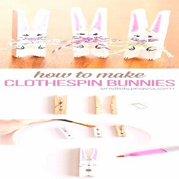 How to Make Clothespin Bunnies | Clothespin Easter Bunny Craft -  These clothespin bunnies are so a