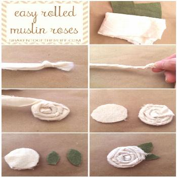 How to Make Easy Rolled Muslin Roses!