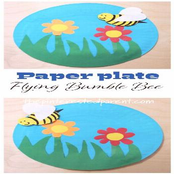 Paper Plate Bumble Bee – The Pinterested Parent