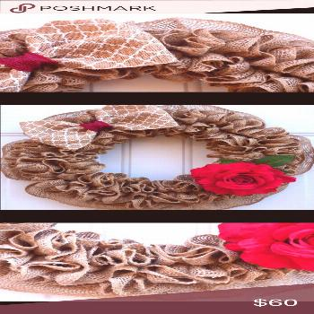 Spring Burlap Wreath for Front Door. Add some elegant touch to your spring home ...,  Spring Burlap