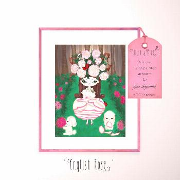 Spring Print - A painting of Spring Personified, Bunnies and Roses, Pink & Green... -  Spring Print