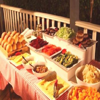 Super baby shower bbq food ideas burger bar Ideas