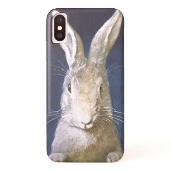Vintage Easter Bunny Cute Furry White Rabbit iPhone X Case