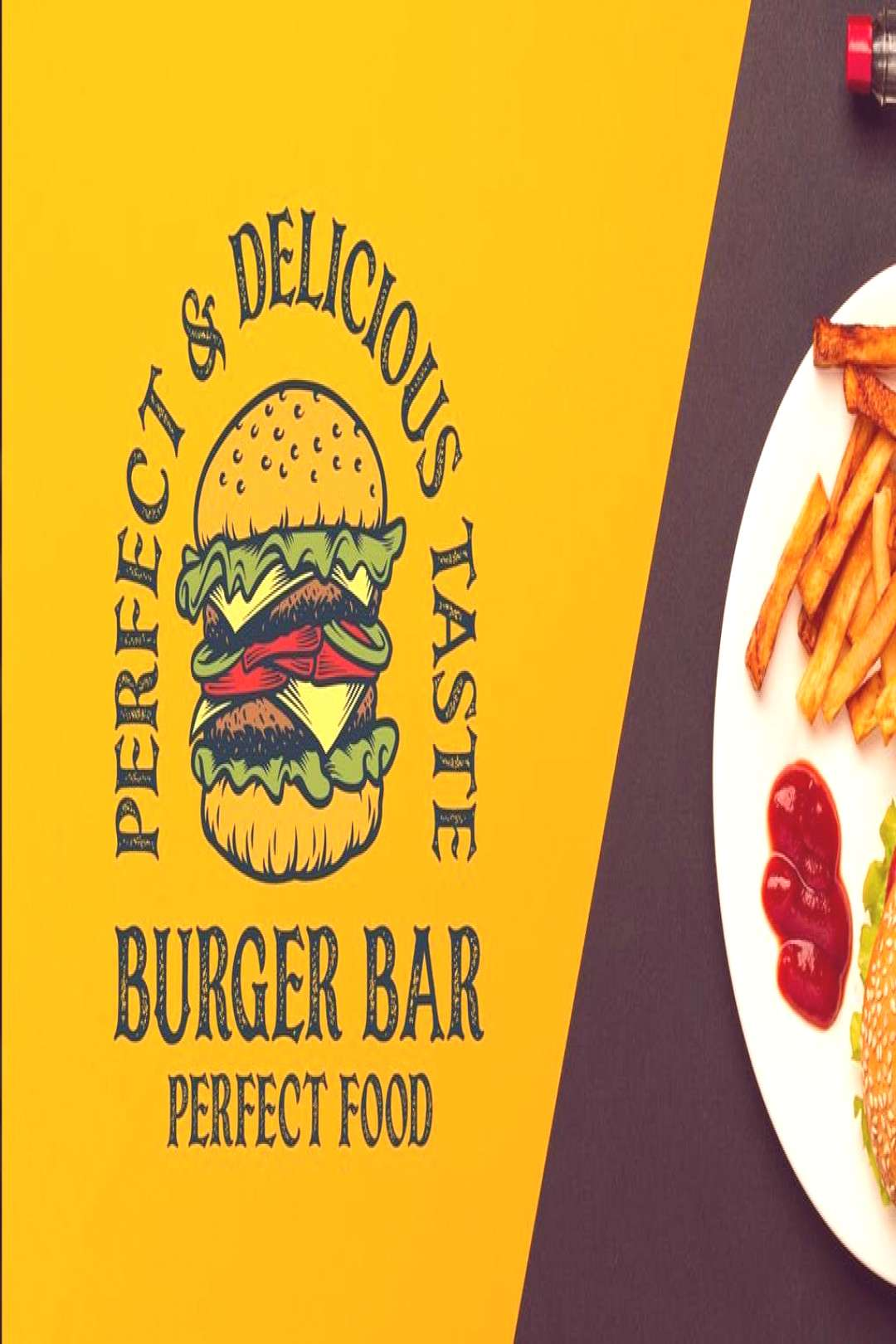 Burger Bar Vintage Logo Template by Blankids on Envato Elements