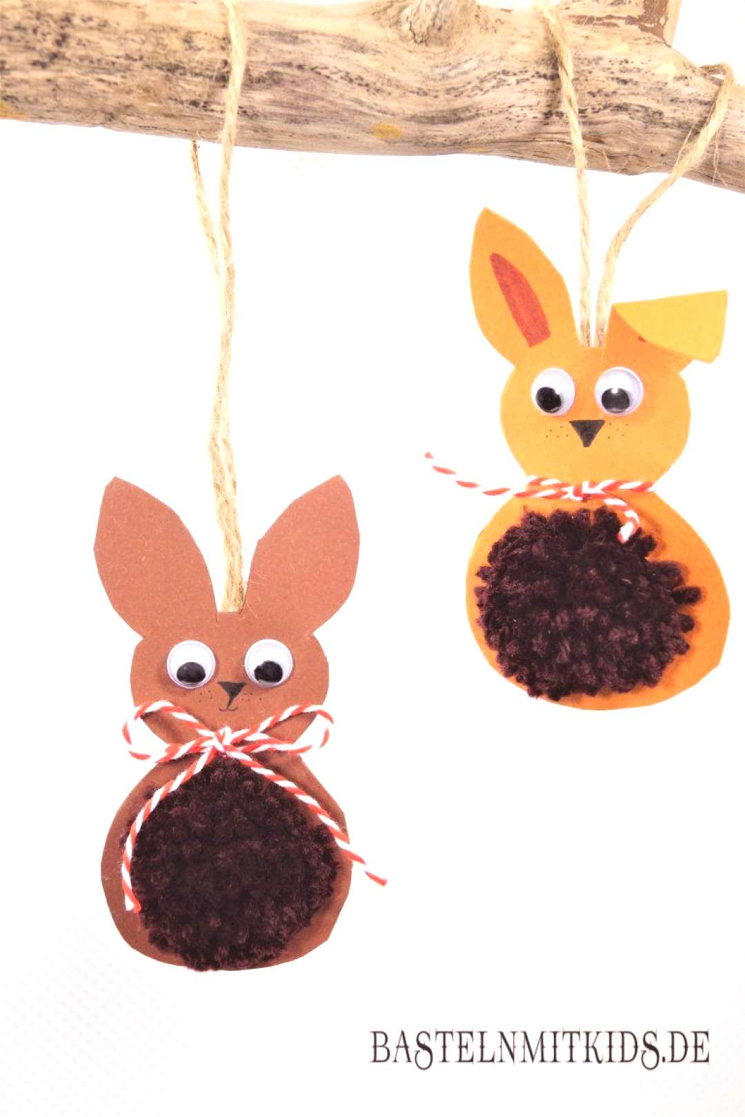 Easter bunnies tinker with children and toddlers - crafting kids#bunnies