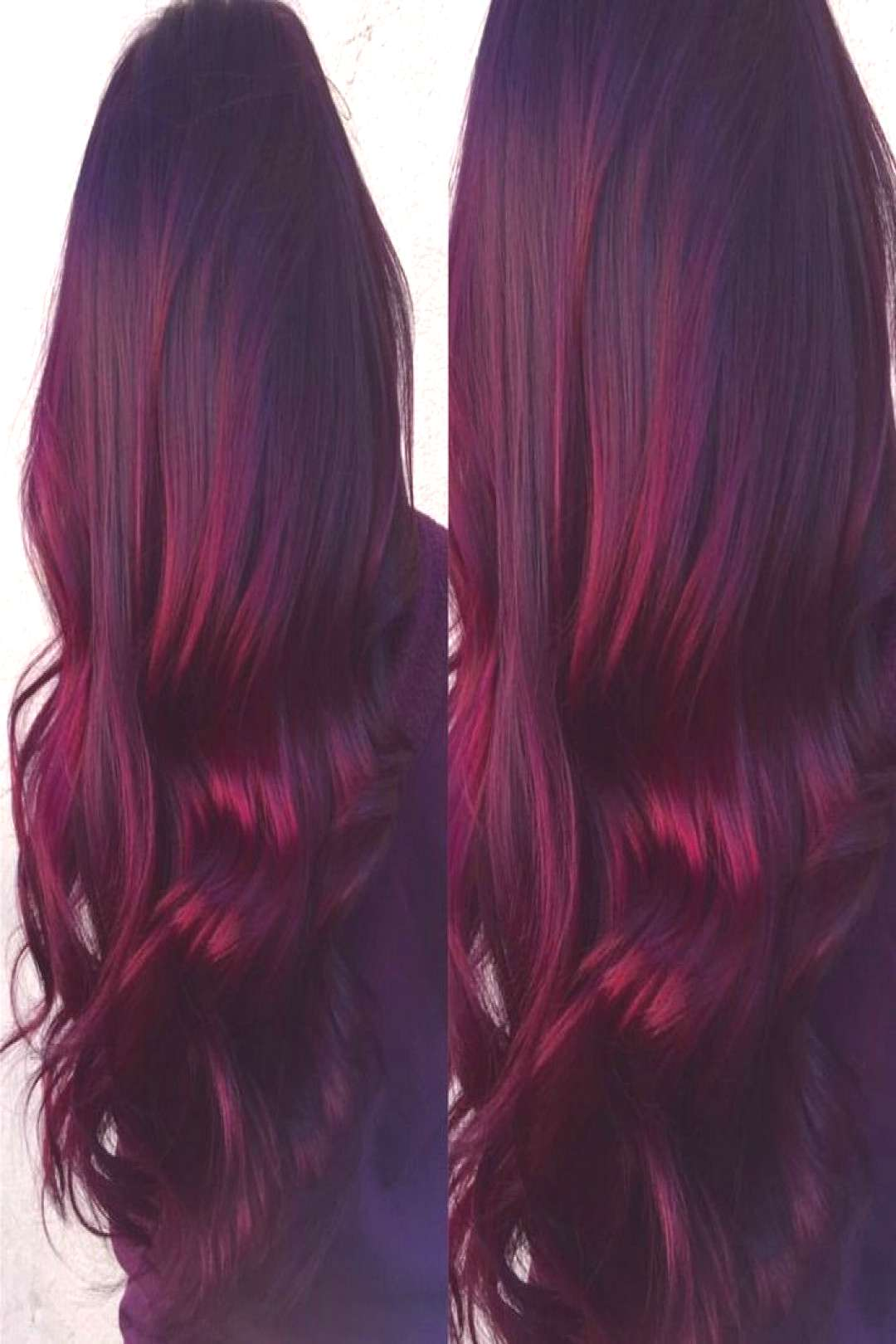 Red Velvet balayage-- dark roots with vibrant burgundy ends. Done by Renée Spinale at The Dollhous