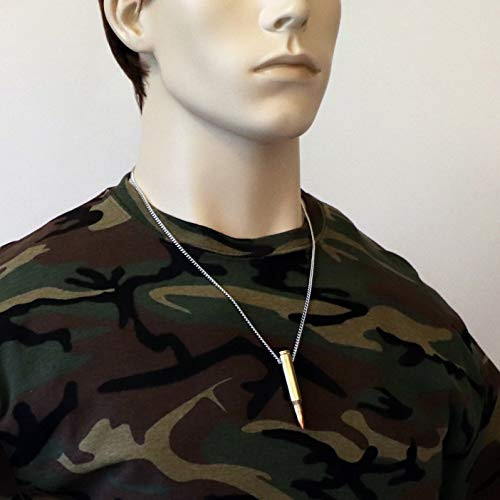 Remington 223 Bullet Necklace Hand Polished Brass and Copper