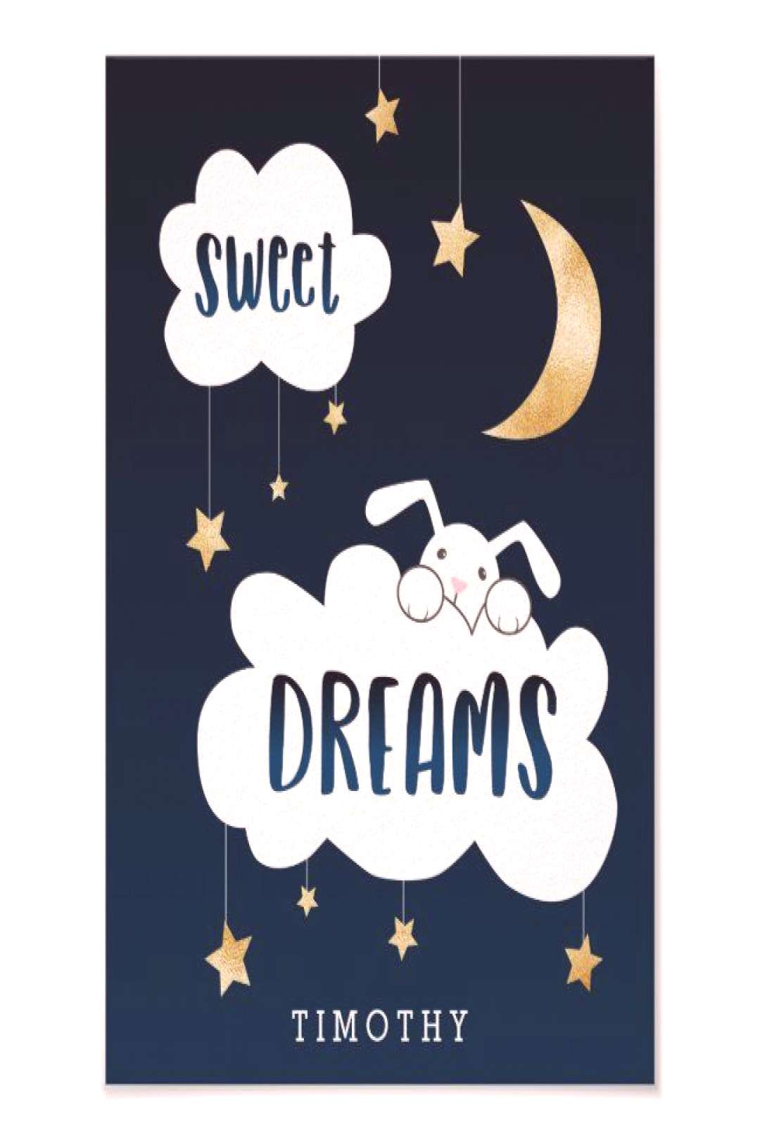 Sweet Dreams Bunny Blue Custom Poster